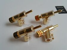 4Pcs Hifi Gold Plated Speaker wire Cable Banana Connector Plug