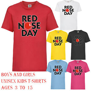 Red nose day kids t-Shirt 2023 have fun Support comic relief unisex boy girl Top