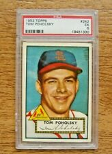 1952 Topps PSA 5 EX #242 Tom Poholsky Rookie Card St. Louis Cardinals