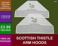 2 New Scottish Thistle Embroidered Arm Hoods Caledonia C180