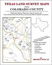 Colorado County Texas Land Survey Maps Genealogy TX