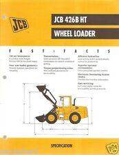 Equipment Brochure - Jcb - 426B Ht - Wheel Loader - c2000 (Eb386)
