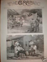 Family Ranch Life in Texas USA 1889 prints