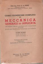 G. B. PUNZI _ MECCANICA GENERALE  E APPLICATA _VOL. II°