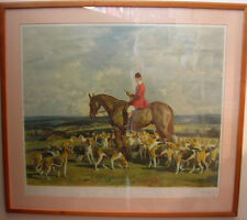 Sir Alfred Munnings Signed Print-Professionally Cleaned & Rematted