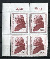 Bund 806 postfrisch Eckrand Viererblock VB Ecke 1 Kant 1974