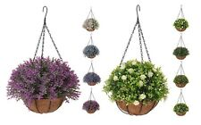 Artificial Plants Hanging Baskets Green Realistic Roses Jasmine Honeysuckle