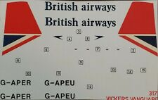 1/144 - Airfix Decal - British Airways - Vickers Vanguard - 3171 #2