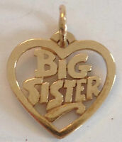 ❤ RETIRED ~JAMES AVERY BIG SISTER HEART 14k GOLD CHARM~ PENDANT w/ JA BOX RARE ❤