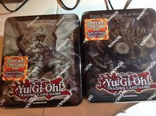 2 TIN BOX LOT OF YUGIHO TEMPEST DRAGON & REDOX DRAGON RULLER OF DOULDER