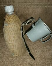 Vintage Insulated Army Water Bottle Canteen Flask with cup