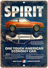 "AMC Spirit American Motors Corporation 10"" x 7"" Reproduction Metal Sign"