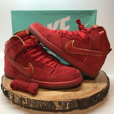 Nike Dunk High Premium SB CHINESE NEW YEAR CNY YEAR OF THE HORSE YOTH RED Sz 10