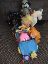 9 Pcs Vintage 1983 Rainbow Brite Dolls W/ Sprites Pink And Horse Lot