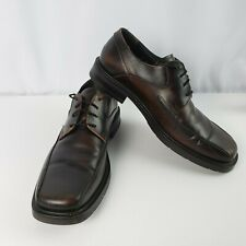 d16e7ab528fb J Ferrar Mens Oxford Dress Shoes Size 12M Leather Upper Laces Brown Italy