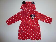 Disney Minnie Mouse Lindo Pequeño rojo del lunar Bata Talla 6-9 meses nuevo con etiquetas