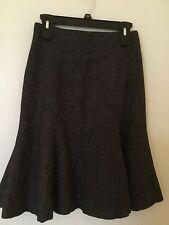 Vintage Classic Skirt Michael Kors Camel Hair Gray Wool  Trumpet Bottom Size 8
