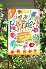 Happy Birthday Balloons Double Sided Soft Flag  **GARDEN SIZE**   FG1457
