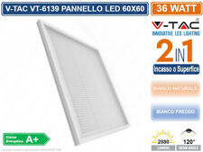 V-TAC VT-6139 PANNELLO LED MONTAGGIO SUPERFICIALE O INCASSO 60X60 36W CON DRIVER