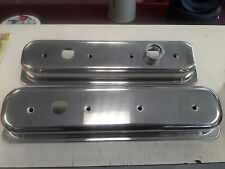 RPC R6045  Aluminum Valve Covers SBC LT1 Chevy 350 Baffled Notched