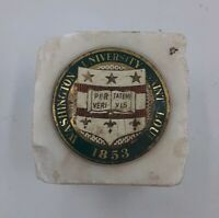 Rare Vintage College Professors Stone Paperweight Washington University St Louis