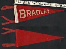 Bradley University Vintage Felt Red Pennant College