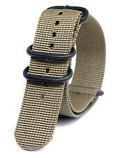 Praetorian® DiverTec Extrem Nato / Zulu Armband Khaki 22mm PVD