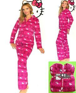 NWT Hello Kitty Fleece Shirt and Pants Pajama Set S,M,L,XL Gift package