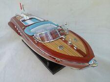 "Cedar Wood Riva Aquarama 15"" White-Blue High Quality Model Boat L40 Xmas Gift"