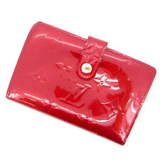 Louis Vuitton Wallet Purse Coin purse Vernis Red Woman Authentic Used Y437
