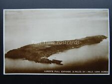 LUNDY ISLAND Aerial Photo Largest Island in the Bristol Channel Old RP Postcard