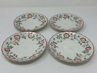 4 CHURCHILL STAFFORDSHIRE ENGLAND  ''BRIAR ROSE'' SAUCERS   5 1/2''