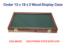 Cedar Wood Display Case  12 x 18 x 2 for Arrowheads Knifes Collectibles & More