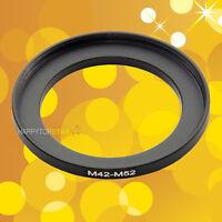 M42mm to M52mm M42-1mm 52-0.75 Male to Female Step-Up Lens Coupling Ring Adapter