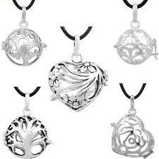 5 Pcs/ lot Silver Plated cage pendants For 18mm HARMONY BALL Angel Caller bola