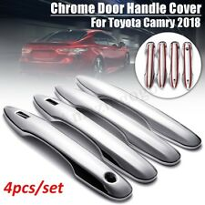 4Pcs ABS Chrome Door Handle Covers Trim w/ Smart Key hole For Toyota Camry 2018