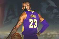 """WELCOME LEBRON JAMES TO THE  LA LAKERS 36""""  x 24"""" POSTER"""