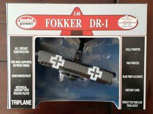 Model Power 1:48 Fokker DR - 1 Triplane Die - Cast Plane