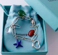 Tiffany & Co Peretti Gemstone Bracelet Crystal Lapis Jade Jasper silver $1705