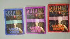 Lot Of 3 2008 Rush Backstage Passes Local Crew Snakes & Arrows Tour