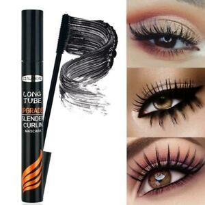 Silk Fiber Eyelash Mascara Extension Makeup Black Waterproof Lashes Black #