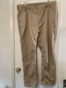 Red Cap Work Uniform Pants, Beige/Khaki Size 44 Mens. Cell pocket