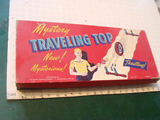 vintage original toy: PRE- WHEEL-LO , WOODEN Mystery Traveling TOP  PORTER CHEM