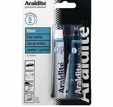 Araldite STEEL 2 X 15ML METAL Tube Epoxy Power Adhesive Glue Bonds Most BODYWORK