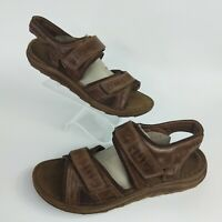Joseph siebel men's Brown  size 11.5 open toe leather sandals