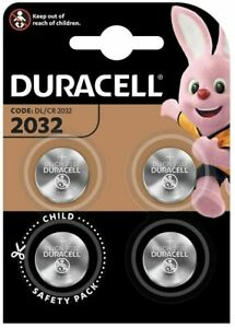 4x Duracell CR2032 3V Lithium Coin Cell Batteries 2032 button DL2032. 066