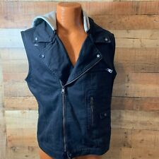 Zara Man Denim Vest with hoodie size xl