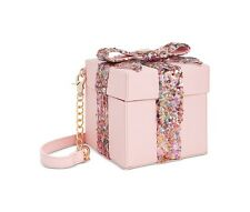 "NWT Betsey Johnson ""Gift Box"" Pink Sequin Crossbody Bag SOLD OUT EVERYWHERE !!"