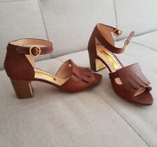Rupert Sanderson Brown Leather Sandals  UK4/EU35