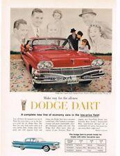 1960 Dodge DART Vermillion 4-door Hardtop VTG PRINT AD